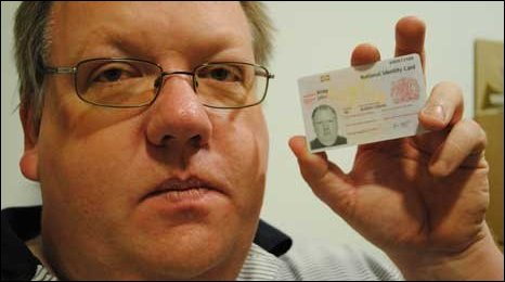 John Kirby and his identity card