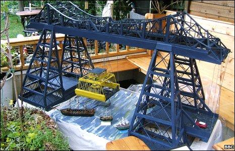 Back garden Transporter Bridge