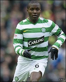 Landry N'Guemo in action for Celtic
