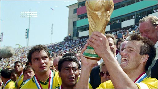 Brazil win 94 World Cup on penalties