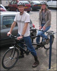 Belmont Chapel members arrive by bike