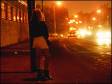 A women working as a prostitute