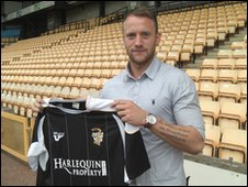 Port Vale striker Sean Rigg