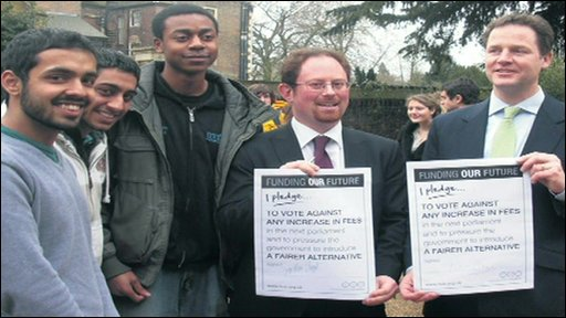 Nick Clegg and students