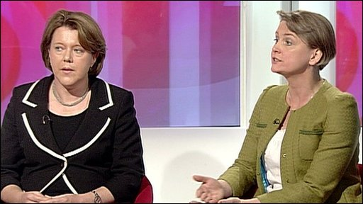 Maria Miller and Yvette Cooper