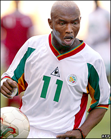 Senegal forward El-Hadji Diouf