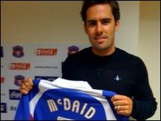 Carlisle defender Sean McDaid