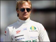 Lotus Racing driver Heikki Kovalainen