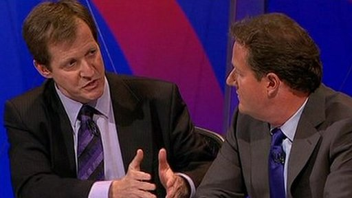 Alistair Campbell and Piers Morgan