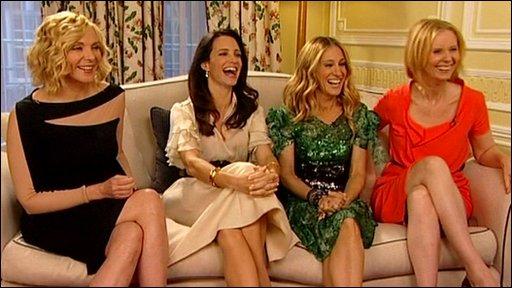 'Sex and the City' cast; Kim Cattrall, Sarah Jessica Parker, Kristin Davis and Cynthia Nixon.