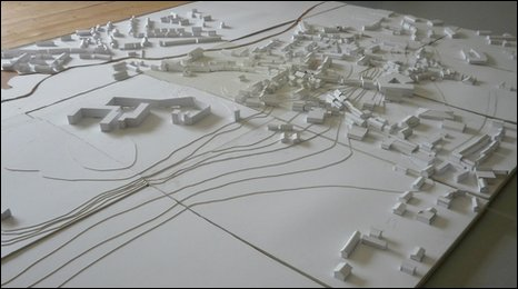 scale model of Ruthin