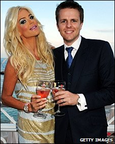 Jake Humphrey with model and actress Victoria Silvstedt