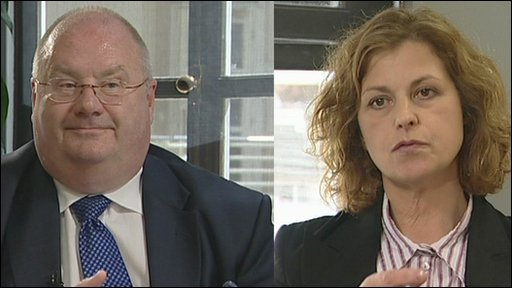 Eric Pickles, Communities and Local Government Secretary with Deborah McGurran, BBC Politicial Editor