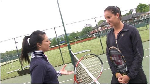 Seema meets Laura Robson