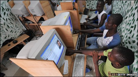 Computer users in the Ivory Coast