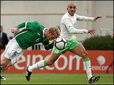 Paul Green's brave header gave the Republic of Ireland the lead