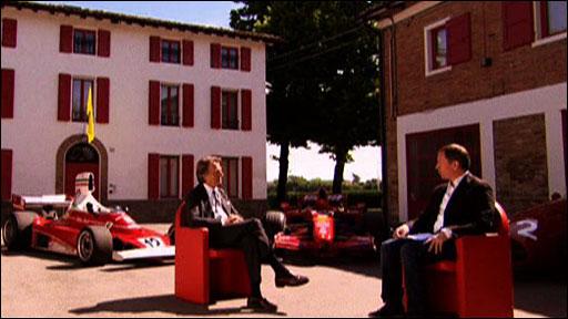 Ferrari president Luca Di Montezemelo talks to Martin Brundle