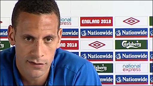 England captain Rio Ferdinand