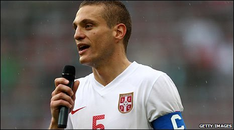 Manchester United and Serbia defender Nemanja Vidic