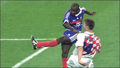 Lillian Thuram scores the winner against Croatia in 1998