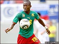 Cameroon midfielder Enoh Eyong