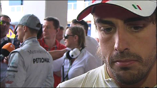 A downcast Fernando Alonso