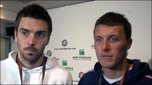 British tennis' Colin Flemming (left) and Ken Skupski