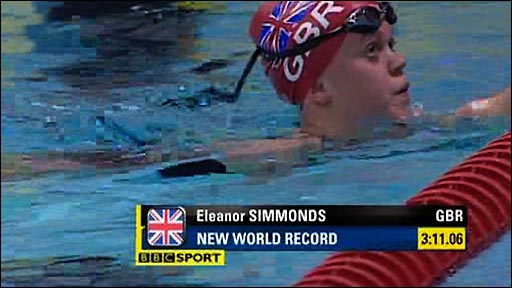 Ellie Simmonds sets new record at Manchester World Cup