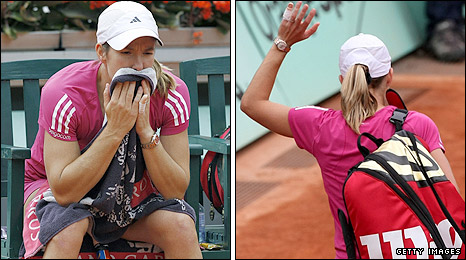 Justine Henin loses at the French Open