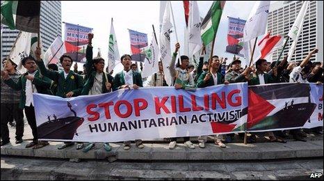 Anti-Israeli demonstration in Indonesia