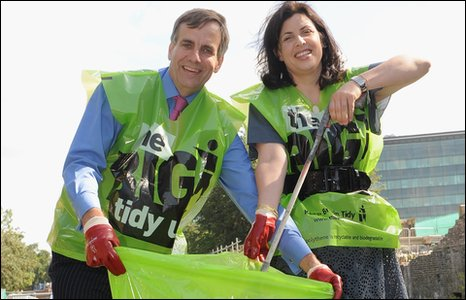 Kirstie Allsopp and Keep Britain Tidy Chief Executive Phil Barton