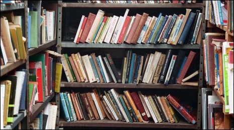 Books in a shop at Hay-on-Wye