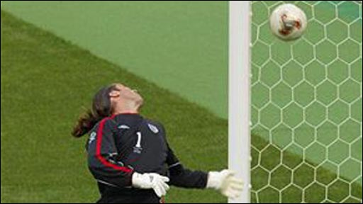 David Seaman is left scrambling by Ronaldinho's free-kick in 2002