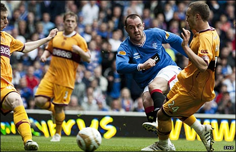 Kris Boyd scores against Motherwell