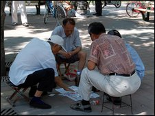 Chess players in Dongdan park