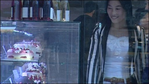 North Korean defector in Seoul cake shop