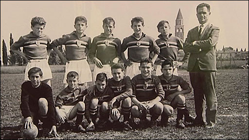 Fabio Capello's youth football team photo