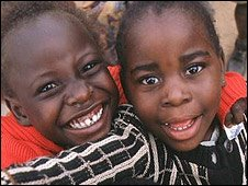 Zambian children smiling