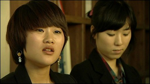 Two North Korean defectors