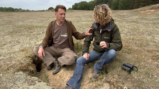 Chris Packham and Kate Humble for Springwatch in Breckland