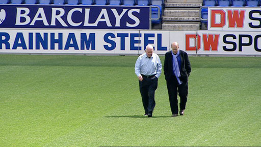 Chairman of Wigan FC with John Sweeney