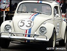A replica of 'Herbie - The Love Bug' car