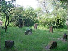 The sculpture garden at Lower Frankton near Ellesmere