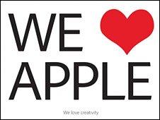 Adobe advert on Apple