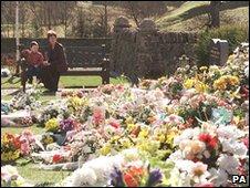 Flowers in the Dunblane Memorial Garden
