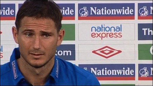 England midfielder Frank Lampard