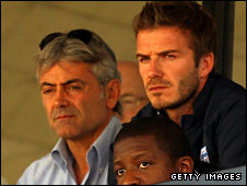 Franco Baldini and David Beckham