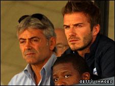 Franco Baldini and David Beckham