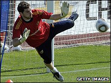Spain goalkeeper Iker Cassillas