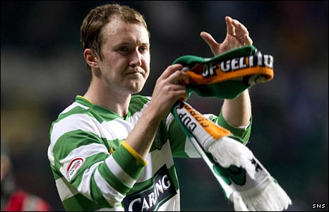 Celtic midfielder Aiden McGeady